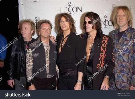 Rock Group Aerosmith With Lead Singer Steve Tyler At The