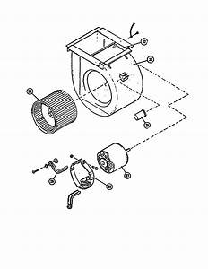 Blower  Motor Diagram  U0026 Parts List For Model G12827 Lennox