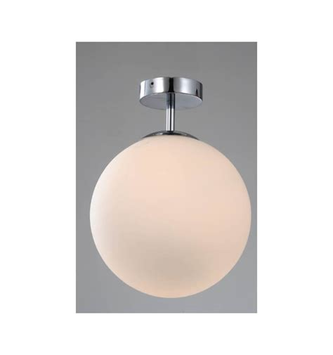 plafondlamp modern witte glazen bol label