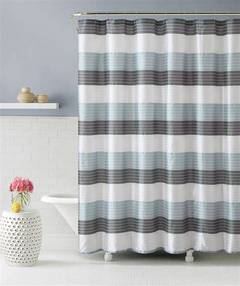Shower Curtain Gray by Blue Gray And White Fabric Shower Curtain Stripe