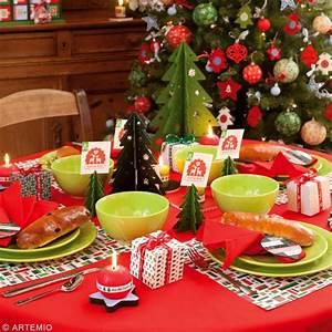 Decoration De Noel Table : d coration de table de no l rouge et vert id es et ~ Melissatoandfro.com Idées de Décoration