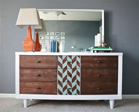 century modern dresser diy a modern mid century makeover via royal design studio Mid