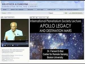 Dr. Farouk El Baz presentation : International Planetarium ...