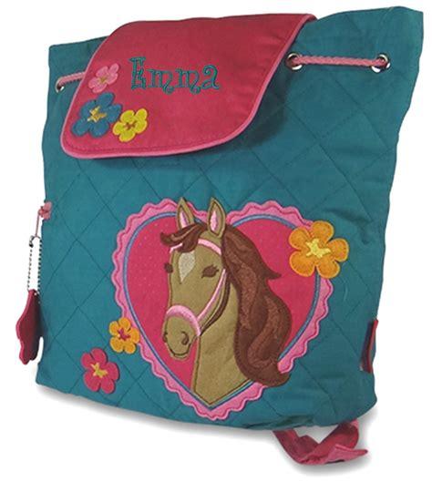 girls toddler horse backpack monogram personalized
