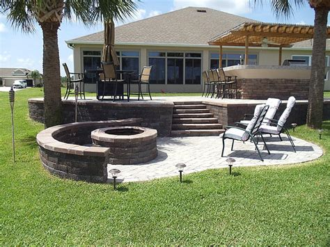patio pavers with pit pit design ideas