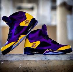 Purple Jordan Lakers