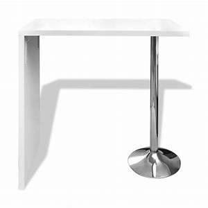 Table De Bar Blanche : la boutique en ligne table blanche verniss e table de bar 1 pied ~ Voncanada.com Idées de Décoration