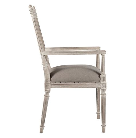 coyle shabby antique white dining arm chair kathy