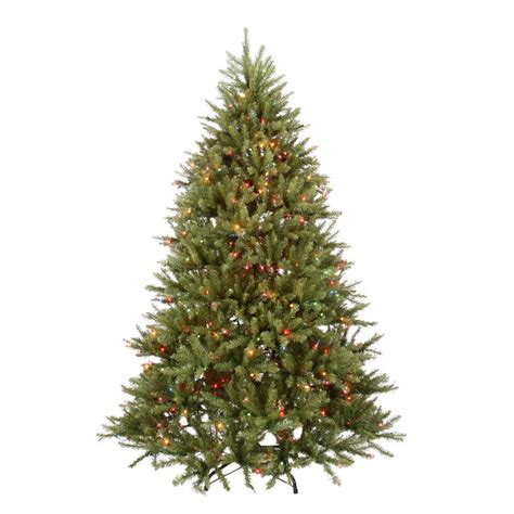 dunhill christmas tress home depot fir christimas trees national tree company 7 5 ft pre lit dunhill fir hinged artificial tree with multi