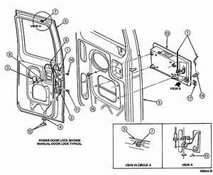1994 Econoline 150 Van Rear Door Latch Need Cable Hook