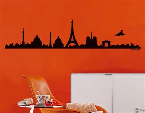 Wandtattoo Kinderzimmer Frankreich by Wandtattoo Skyline Frankreichs Hauptstadt