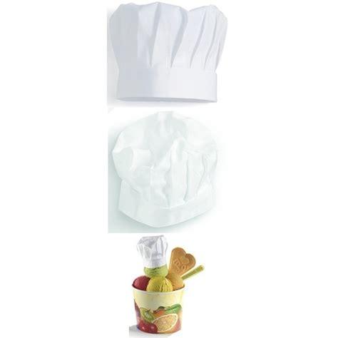 toqué 2 cuisine toque cuisine chef pâtissier hauteur 220 mm 100 coton