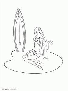 Free Barbie In A Mermaid Tale Coloring Pages 2