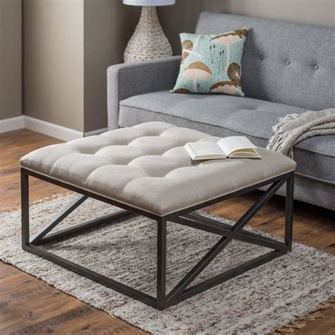 ottoman and coffee table furniture interior top brown leather ottoman coffee
