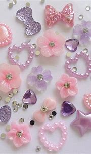 24 x 3D Acrylic Nail Art Baby Pink & Lilac Flower,Bows ...