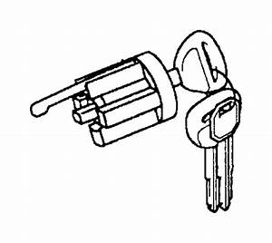 Mitsubishi Galant Ignition Lock Cylinder  Trans  Steering