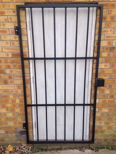 steel security door gate grill powder coated black 163