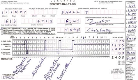Truckers Log Book Template by Daily Truck Driver Log Book Template Excel