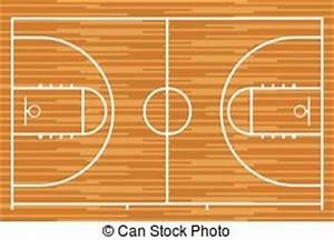 stock illustrations of basketball court floor plan on With parquet de basket