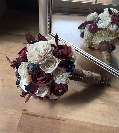 burgundy wedding bouquet fall wedding bouquet sola wood