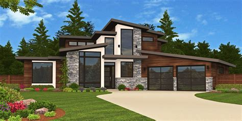 Dramatic Contemporary With Second Floor Deck