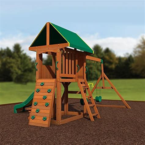 backyard discovery somerset  cedar wood playset swing set endurro   kids indoor