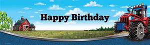 Farm Tractor Birthday Banner BirthdayExpress com