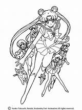 Coloring Saturn Sailor Pages Moon sketch template