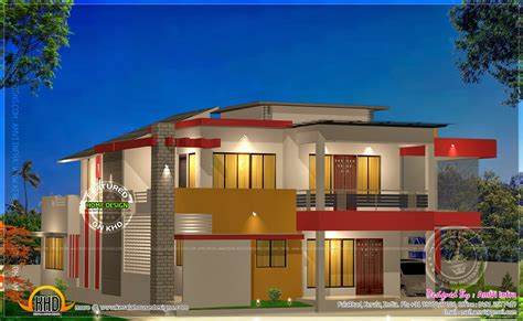 modern style home plans modern 4 bhk house plan in 2800 sq kerala home