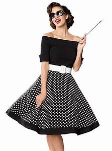 Robe Retro Année 50 : robe rockabilly pin up retro ann es 50 belsira black white dots ~ Nature-et-papiers.com Idées de Décoration