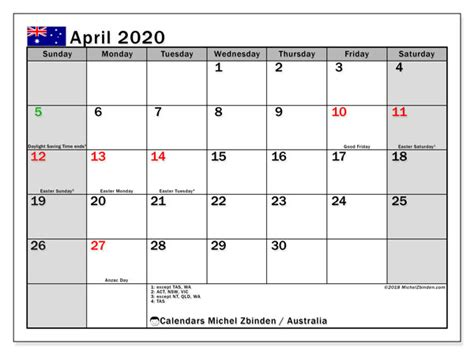 april calendar australia michel zbinden en