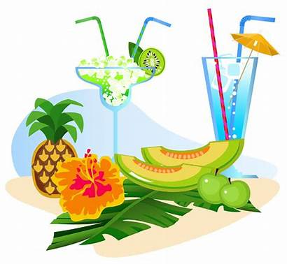 Summer Cartoon Illustration Vector Clipart Fruit Cliparts