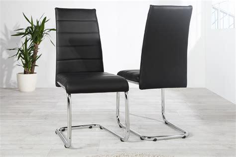 chaise cuir noir chaise design en simili cuir noir kazuac