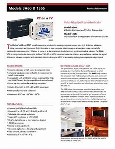 Vga To Component Video Converter  Scaler 1365 Manuals
