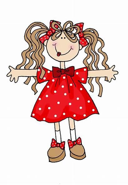 Clipart Digital Clip Dolls Cartoon Dearie Heart