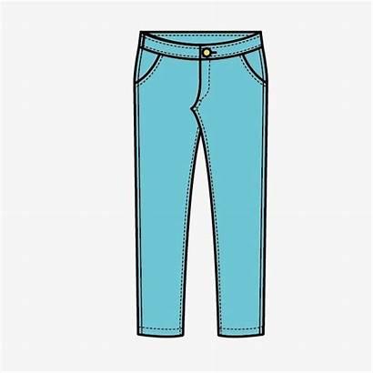 Pants Clipart Cartoon Transparent Clip Clothes Jeans