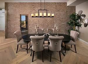 Mur Effet Brique : d co salle manger avec mur brique 50 id es originales ~ Melissatoandfro.com Idées de Décoration