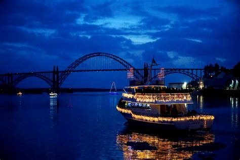 newport lighted boat parade photos news lincoln county
