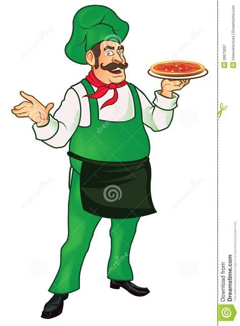 cuisine cook master master chef senior stock illustration image of pizza