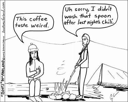 Camping Humor Chili Hiking Jokes Funny Cartoon