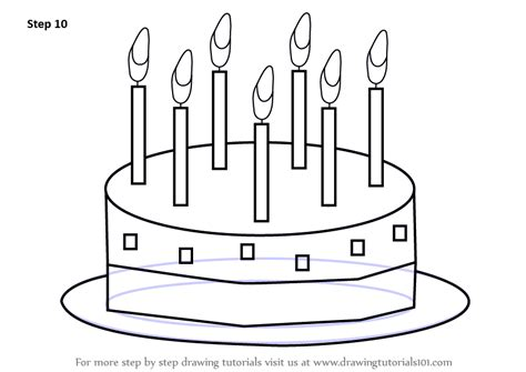 Learn How To Draw Birthday Cake For Kids (cakes) Step By