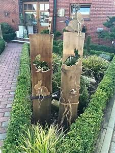 Holz Deko Garten : gartenstelen basteln deko garten selber machen holz kunstrasen garten stelen pinterest ~ Orissabook.com Haus und Dekorationen