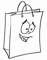 Coloring Bags Shopping Printable Plastic Drawing Template Getcolorings sketch template