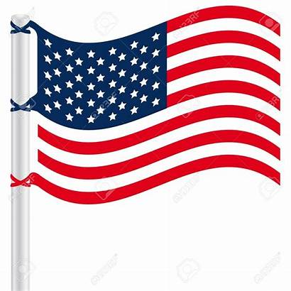 Flag American Clipart Waving States United Vector