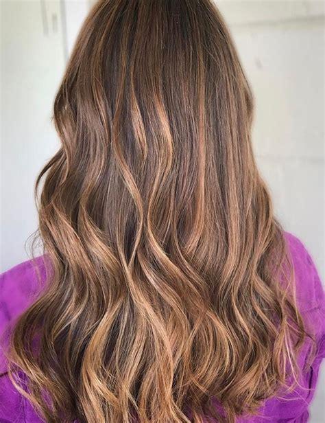 rose gold balayage  brown hair redken