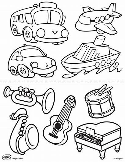Transportation Pages Coloring Instruments Crayola Toddlers Sheets