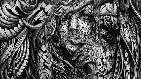 Abstract Black And White Drawings by Open Monochrome Black White