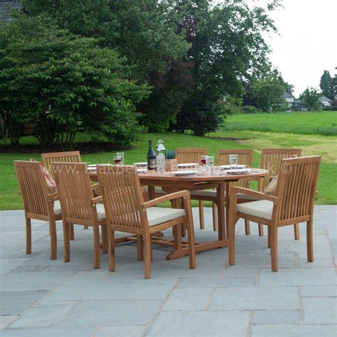 classic teak garden furniture dining set seat oval