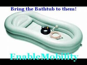 Bathtub System Allows Handicapped Bath In Bed YouTube