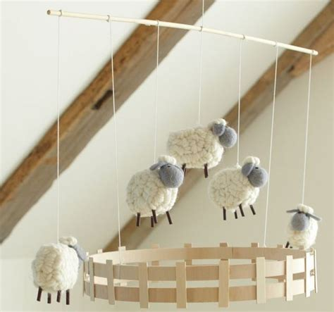 Mobile Pottery Barn by Pottery Barn Sweet Lambie Nursery Decor Mobile